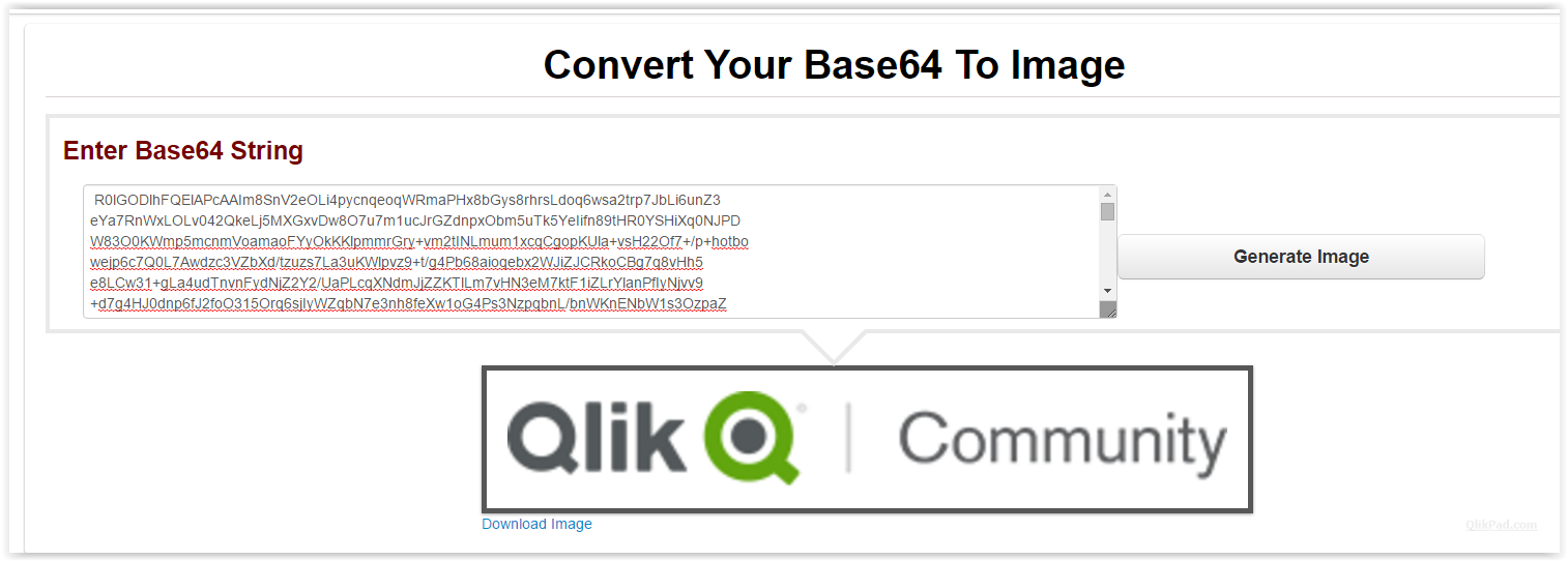 Extracting images from QlikView documents - QlikPad com