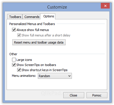 Show shortcut keys in ScreenTips option - QlikPad.com