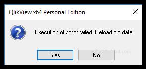 Error handling in QlikView - QlikPad com
